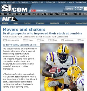 Movers and Shakers from the NFL Combine