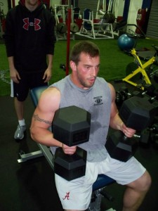 Mike McLaughlin hitting the DB Incline Bench